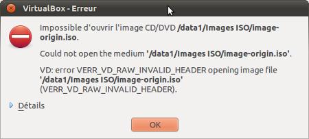 VirtualBox-Erreur