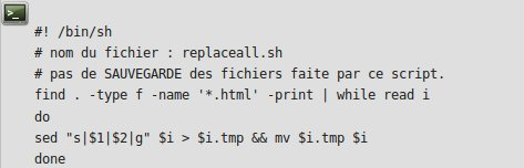 Affichage code minimaliste