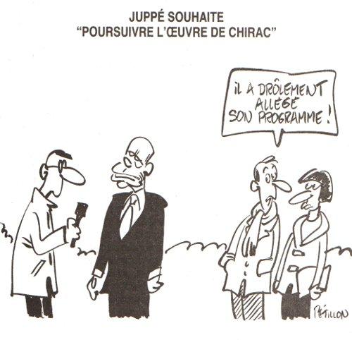 Juppé et l'œuvre de Chirac