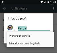 changer la photo du profile