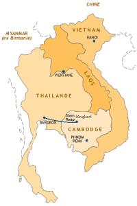 carte asie du sud-est