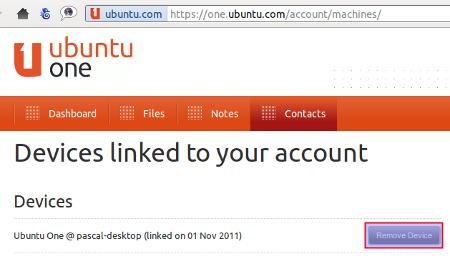 compte machine sur Ubuntu One