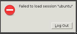"message d'erreur : failed to load session ""Ubuntu"""