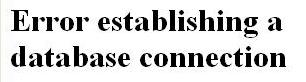 message d'erreur wordpress