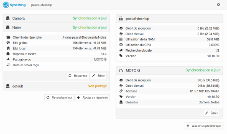 interface web PC