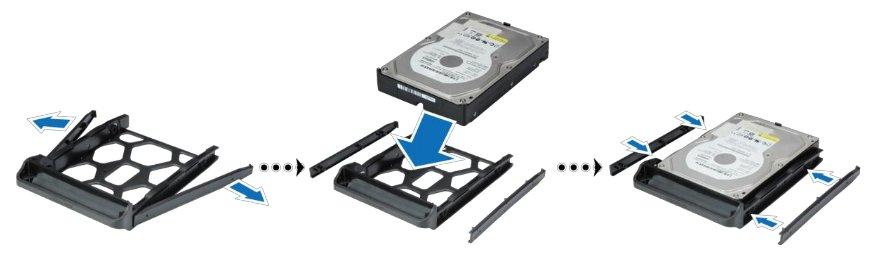DS214 : installer les HDs
