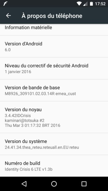Motorola Moto G 4G LTE : passage à Android 6 (Stock Android 6.0)