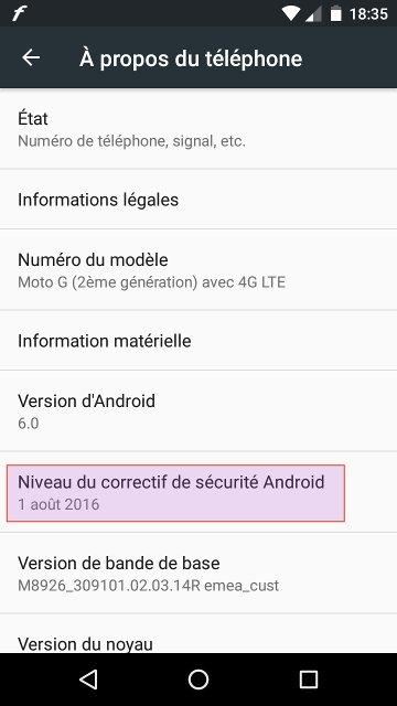 Motorola Moto G 4G LTE : Stock Android 6.0 avec correctif sécurité du 1er août 2016