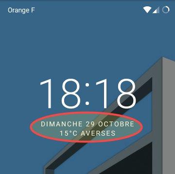 LineageOS : La météo sur l'écran de verrouillage